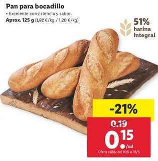 Oferta de Pan por 0,15€