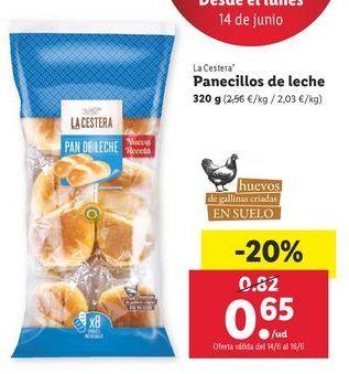 Oferta de Panecillos La Cestera por 0,65€