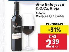 Oferta de Vino joven Antaño por 2,39€