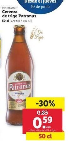 Oferta de Cerveza Perlenbacher por 0,59€