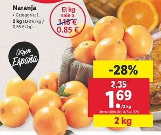 Oferta de Naranjas por 1,69€