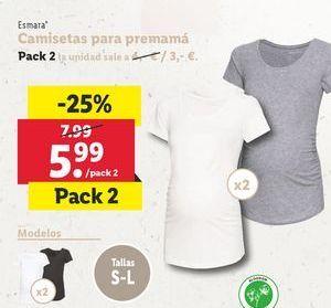Oferta de Camiseta premamá por 5,99€