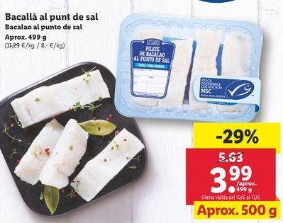 Oferta de Bacalao por 3,99€