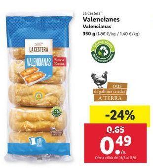 Oferta de Valencianas La Cestera por 0,49€