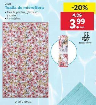 Oferta de Toalla de microfibra Crivit por 3,99€