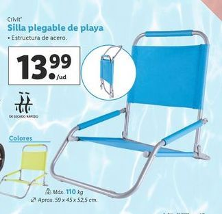 Oferta de Silla plegable Crivit por 13,99€