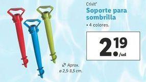 Oferta de Soporte para parasol Crivit por 2,19€