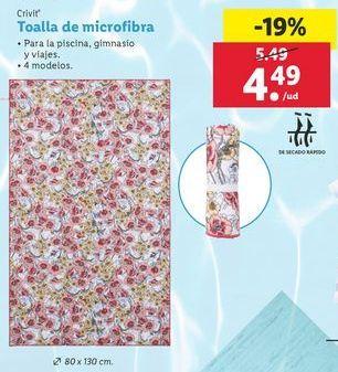 Oferta de Toalla de microfibra Crivit por 4,49€