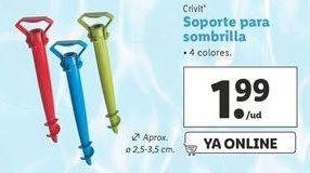 Oferta de Soporte para parasol Crivit por 1,99€
