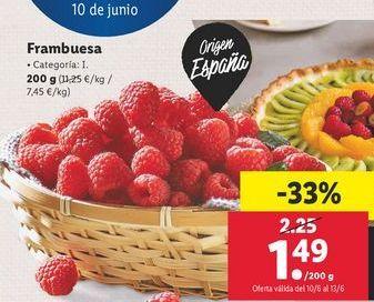 Oferta de Frambuesas por 1,49€