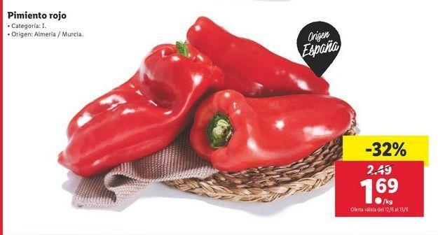 Oferta de Pimientos rojos por 1,69€