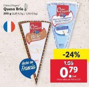 Oferta de Queso brie por 0,79€