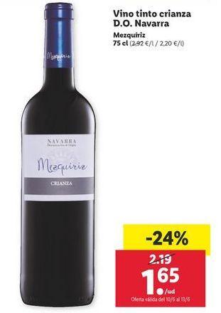 Oferta de Vino por 1,65€