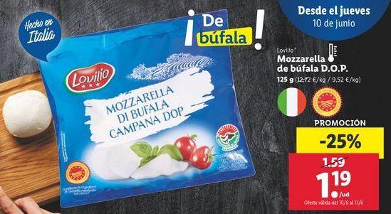 Oferta de Mozzarella por 1,19€