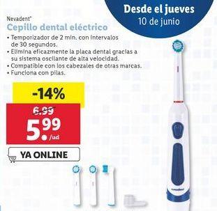 Oferta de Cepillo de dientes eléctrico por 5,99€