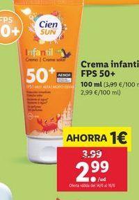 Oferta de Crema solar por 2,99€