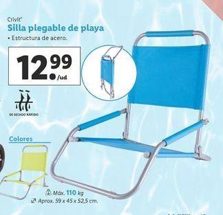 Oferta de Silla plegable Crivit por 12,99€