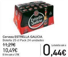 Oferta de Cerveza ESTRELLA GALICIA  por 10,49€
