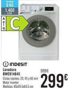 Oferta de INDESIT Lavadora BWE91484X  por 299€