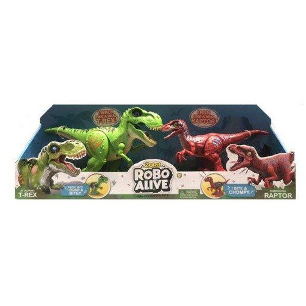 Oferta de Robo Alive Dinosaurios - T-Rex Verde y Raptor Rojo por 23,99€