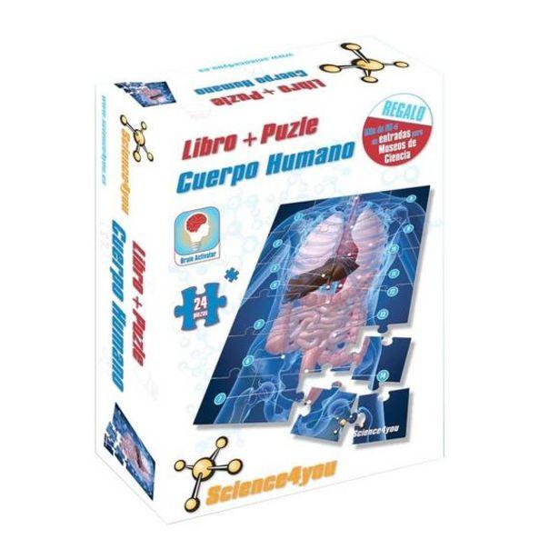 Oferta de Libro y Puzle 24 Piezas Cuerpo Humano por 3,25€