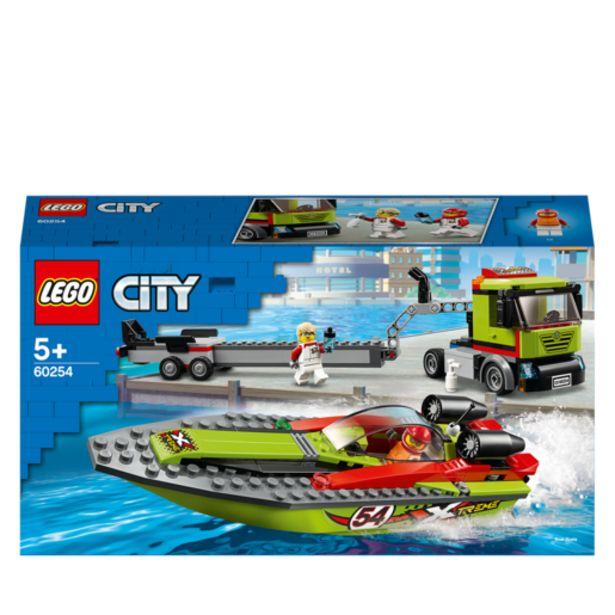 Oferta de Lego City Transporte de La Lancha de Carreras- 60254 por 29,99€