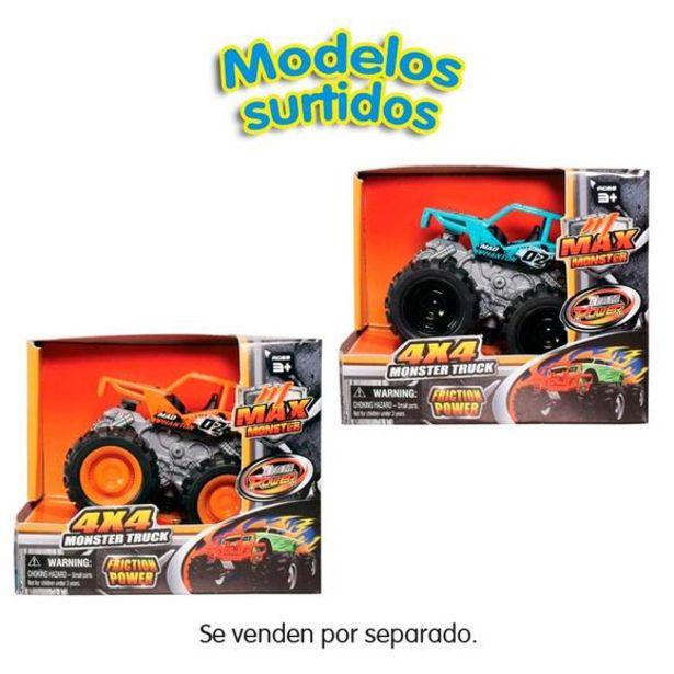 Oferta de Max Monster Truck Coches 9 cm Surtidos por 4,5€