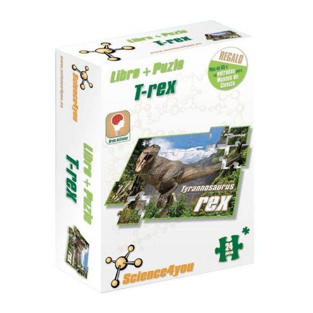 Oferta de Libro y Puzle 24 Piezas Tiranosaurio Rex por 3,25€