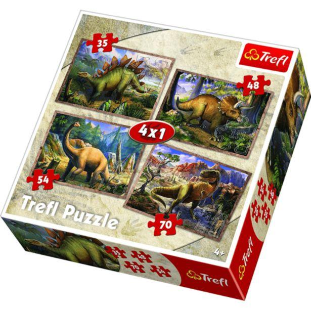 Oferta de Puzle 4 en 1 Dinosaurios por 6,5€