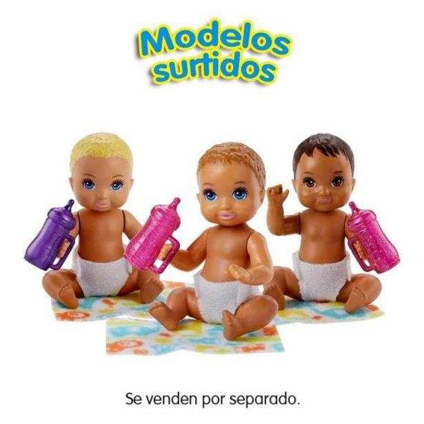 Oferta de Barbie Skipper Bebés con Pañal y Biberón Surtidos por 2,4€