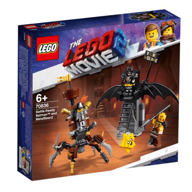 Oferta de La Lego Película 2 Batman y Barbagris Preparados Para Luchar -70836 por 13€