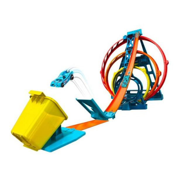 Oferta de Hot Wheels Track Builder Triple Looping por 39,99€