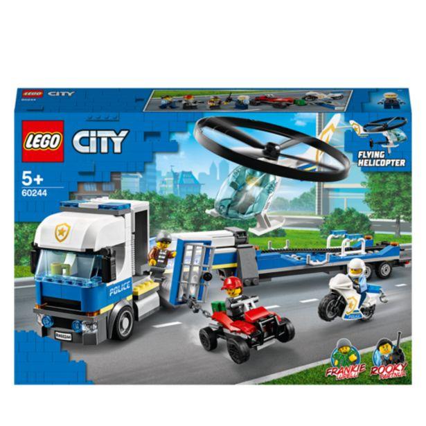 Oferta de Lego City Camión Transporte Helicóptero- 60244 por 49,99€