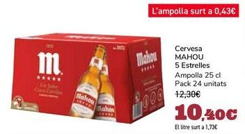 Oferta de Cerveza MAHOU 5 Estrellas por 10,4€