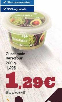 Oferta de Guacamole Carrefour por 1,29€