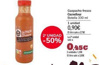 Oferta de Gazpacho fresco Carrefour por 0,9€