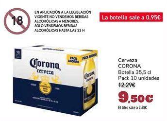 Oferta de Cerveza CORONA por 9,5€