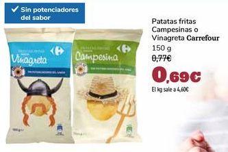 Oferta de Patatas fritas Campesinas o Vinagreta Carrefour por 0,69€