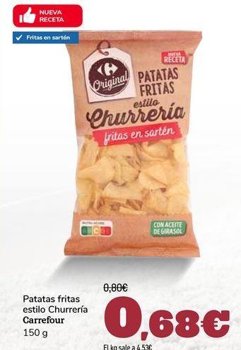Oferta de Patatas fritas estilo Churrería Carrefour por 0,69€