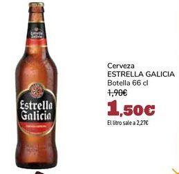 Oferta de Cerveza ESTRELLA GALICIA por 1,5€