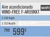 Oferta de Aire acondicionado WIND-FREE F-AR09NXT por 599€