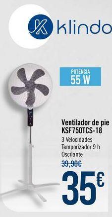 Oferta de Ventilador de pie KSF750TCS-18 por 35€