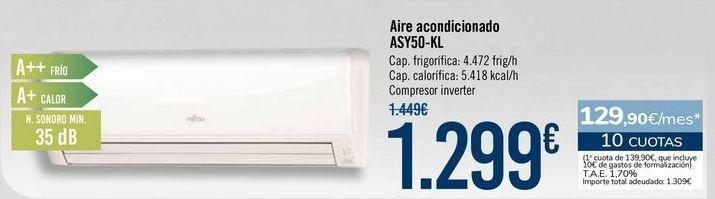 Oferta de Aire acondicionado ASY50-KL por 1299€