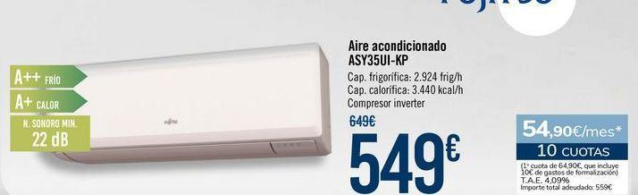 Oferta de Aire acondicionado ASY35UI-KP por 549€