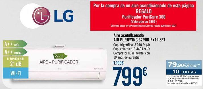 Oferta de Aire acondicionado AIR PURIFYING 32PURIFY12.SET por 799€