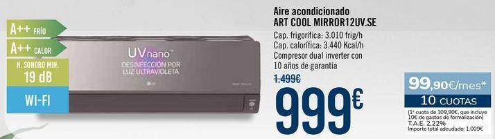 Oferta de Aire acondicionado ART COOL MIRROR12UV.SE por 999€