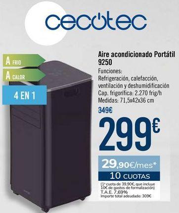 Oferta de Aire acondicionado Portátil 9250 por 299€