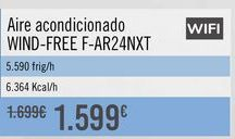 Oferta de Aire acondicionado WIND-FREE F-AR24NXT por 1599€