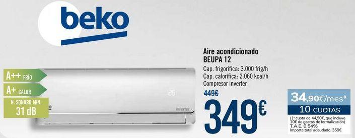 Oferta de Beko Aire acondicionado BEUPA 12 por 349€