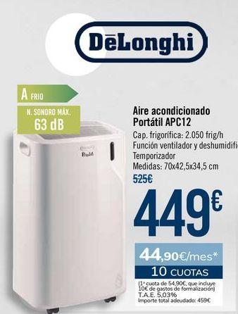 Oferta de DeLonghi Aire acondicionado Portátil APC12 por 449€